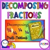 Intermediate Math Interactive Notebook Decomposing Fractions