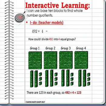 Intermediate Math Interactive Notebook Division