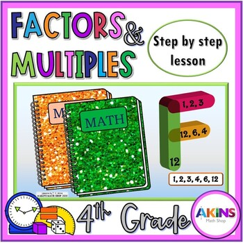 Intermediate Math Interactive Notebook Factors and Multiples