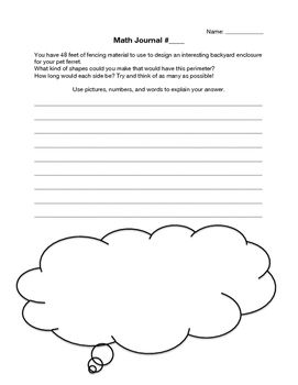 Intermediate Math Journals (with rubric): to facilitate deeper thinking