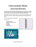 Middle School Math Journals (with rubric): problem solving