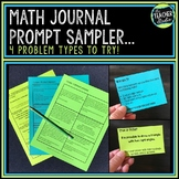 Intermediate Math Journal Prompts