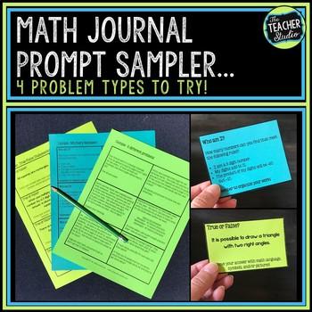 Intermediate Math Journal Prompts