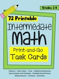 Intermediate Math Task Cards - 72 cards in 9 mathematical categories (Grade 3-5)