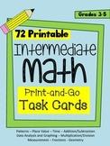 Intermediate Math Task Cards - 72 cards in 9 mathematical categories (Grade 3-5)