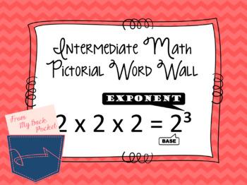 Intermediate Pictorial Math Word Wall