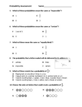 Intermediate Probability Assessment/Check for Understanding