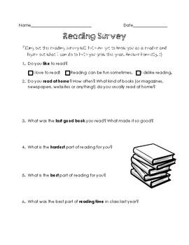 Intermediate Reading Inventory Survey