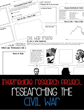 Intermediate Research -- Civil War Timelines & State Profiles