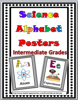 Science Word Wall Alphabet Posters