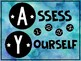 Intermediate Self-Assessment Posters and Student Desk Cards (Watercolor)