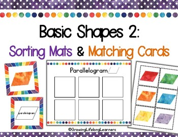Intermediate 2D Shapes: Sorting Mats and Matching Cards