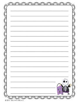 Intermediate Halloween Writing Paper Combo