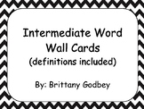 Intermediate Social Studies Word Wall Vocabulary Cards
