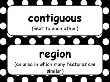 Intermediate Social Studies Word Wall Vocabulary Cards