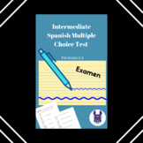 Intermediate Spanish Midterm or Final Exam