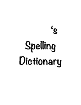 Intermediate Spelling Dictionary