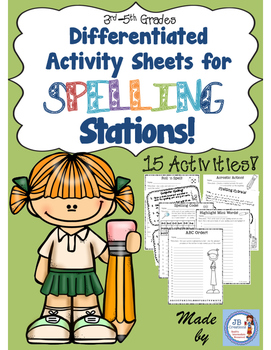 Intermediate Spelling Station Activities