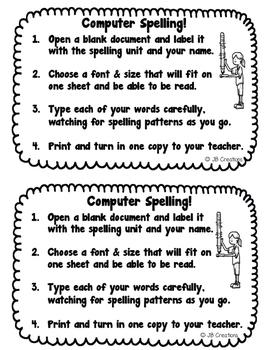Intermediate Spelling Station Activities