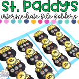 Intermediate St. Paddy's Day File Folders for Special Education