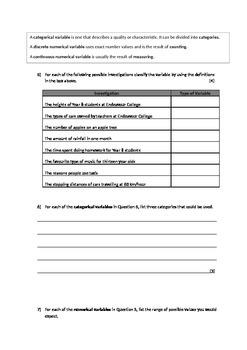 Intermediate Statistics Test