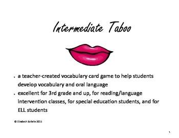 Taboo Intermediate