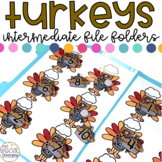 Intermediate Thanksgiving File Folder for Special Education