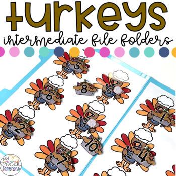 Intermediate Thanksgiving File Folder for Special Education