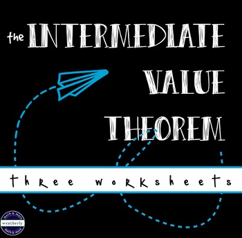 CALCULUS Intermediate Value Theorem - worksheets
