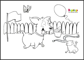 Intermediate Vocabulary Learning Colouring Book