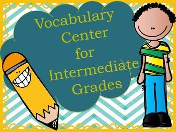 Intermediate Vocabulary Literacy Center