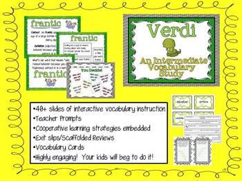 Verdi:  Intermediate Vocabulary Study (Explicit Instruction