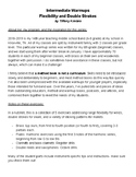 Intermediate Warmups- Flexibility and Double Strokes