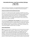 Intermediate Warmups- Long Tones and Basic Sticking