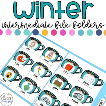 Intermediate Winter File Folder for Special Education