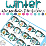 Intermediate Winter File Folders for Special Education
