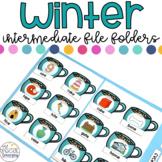 Intermediate Winter File Folders for Special Education