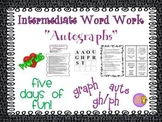 """Word Work and Vocabulary 5-Day Intermediate Unit """"AUTOGRAPHS"""""""