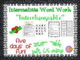 """Word Work and Vocabulary 5-Day Intermediate Unit """"INTERCHANGEABLE"""""""