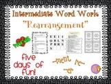 "Word Work and Vocabulary 5-Day Intermediate Unit ""REARRANGEMENT"""