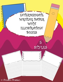 Intermediate Writing Paper with Illustration Boxes