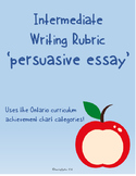 Intermediate Writing Rubric: Persuasive Essay