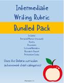 Intermediate Writing Rubrics Bundle Pack