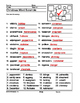 Intermediate level Christmas Word Scramble Printable
