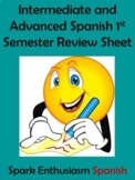Intermediate/Advanced Spanish 1st Semester Review Sheet (15 pages)