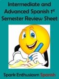 Intermediate/Advanced Spanish 1st Semester Review Sheet (1