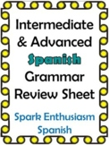 Intermediate/Advanced Spanish Grammar Review Sheet (4 pages)