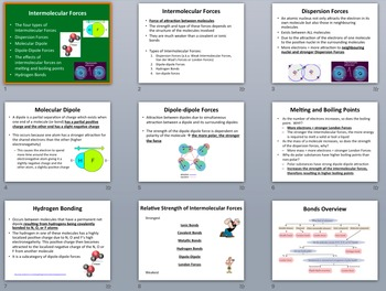 Intermolecular Forces - Chemistry Lesson Package