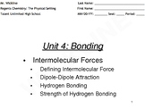 Intermolecular Forces: Hydrogen Bonding and Dipole-Dipole Attraction