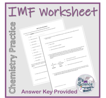 Intermolecular Forces Practice Worksheet